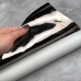 Глянцевый кожзам на тканевой основе, отрез 34х45 см, цвет графит