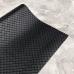 Кожзам на тканевой основе в ромбик, отрез 34х45 см, цвет черный