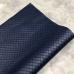 Кожзам на тканевой основе в ромбик, отрез 34х45 см, цвет темно-синий