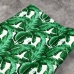 Кожзам на тканевой основе с принтом банановые листья, отрез 34х45 см