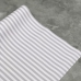 Кожзам на тканевой основе в серо-белую полоску 0,5 мм, отрез 34х45 см