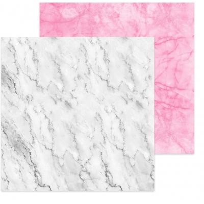 Фотофон двусторонний «Мрамор белый-мрамор розовый», 45 х 45 см, картон 100 г/м