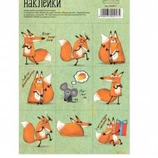 Бумажные наклейки «Лисички», 11 х 16 см