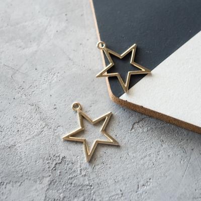 Подвеска-звезда золото, 32х37 мм
