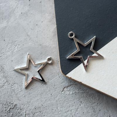 Подвеска-звезда серебро, 32х37 мм