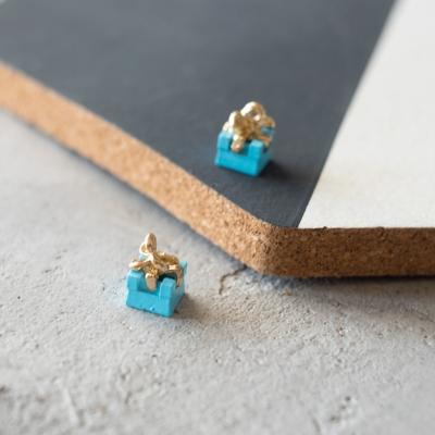 Подвеска-подарок, 9х12 мм, голубой