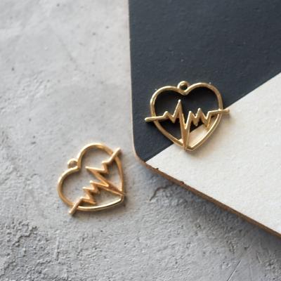 Подвеска-сердце, золото, 30х23 мм