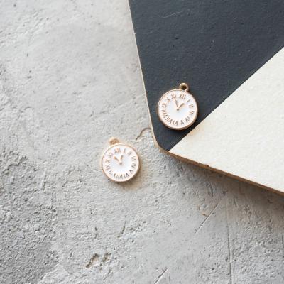Подвеска-часы 15х17 мм, белые
