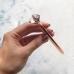 Ручка с бриллиантом, цвет розовое золото, шариковая, чернила черные