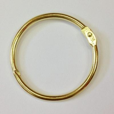 Кольца разъемные 25 мм, золото, пара