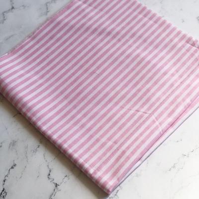 Отрез польского хлопка в бело-розовую полоску, 50х50 см
