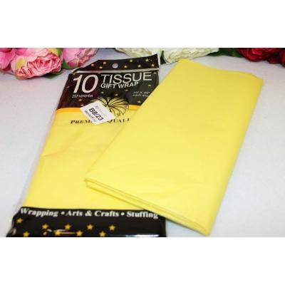 Бумага тишью 50*66см, упак. 10шт, светло-желтый