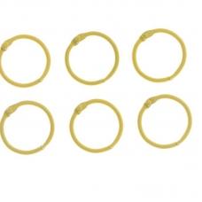 """Кольца для творчества """"Жёлтое"""" набор 6 шт d=3 см"""