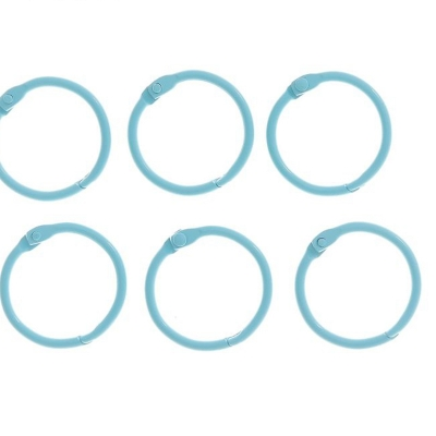 """Кольца для творчества  """"Светло-голубое"""" набор 6 шт d=3 см"""