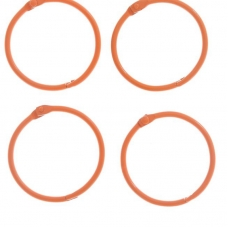 """Кольца для творчества """"Оранжевое"""" набор 4 шт d=4,5 см"""