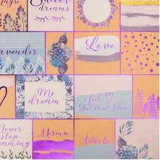 Бумага крафтовая для скрапбукинга с фольгированием «Лавандовые мечты», 30,5 х 30,5 см, 250 г/м