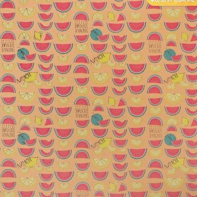 Бумага крафтовая для скрапбукинга с фольгированием «Фруктовое настроение», 30,5 х 30,5 см, 250 г/м