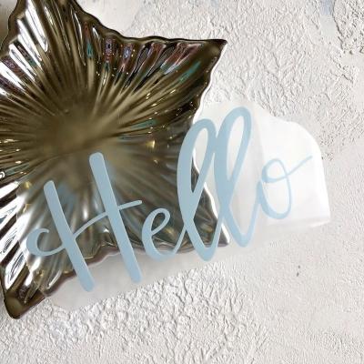 Надпись из матового термотрансфера Hello, 12,6х5,7 см, цвет пастельный голубой
