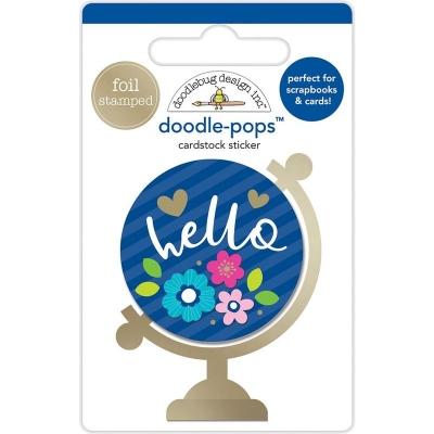 3D стикер Hello World от Doodlebug