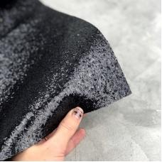 Отрез ткани с крупным глиттером, 35х50 см, цвет черный