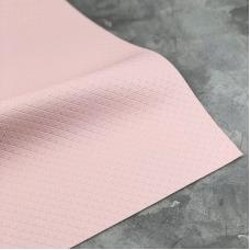 Отрез кожзама на тканевой основе в крестик, 34х45 см, цвет нежно-розовый