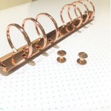 Хольнитены для установки кольцевых механизмов, 1 шт, розовое золото