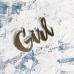 Надпись из серебряного акрила Girl, 7х4,5 см