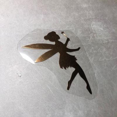 Фея из зеркального медного термотрансфера, 5х7 см