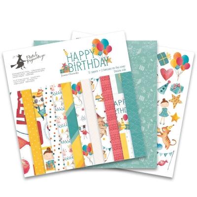 "Набор бумаги ""Happy Birthday"" 30,5х30,5 см. 12 листов"