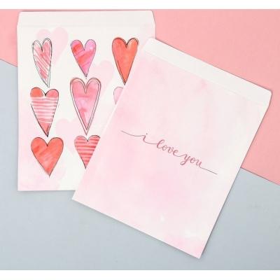 Пакетик подарочный «С любовью», 20 × 24 см