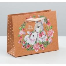 Пакет крафтовый горизонтальный «Милой и нежной» 15 х 12 х 5,5 см