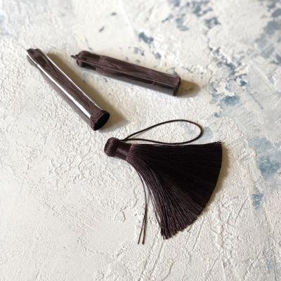 Кисточка шелковая 8,5 см, цвет шоколадный