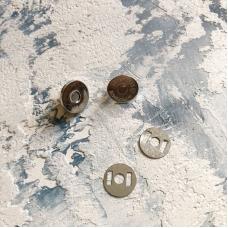 Магнитная кнопка, 14 мм, серебро