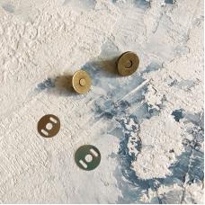 Магнитная кнопка, 14 мм, бронза