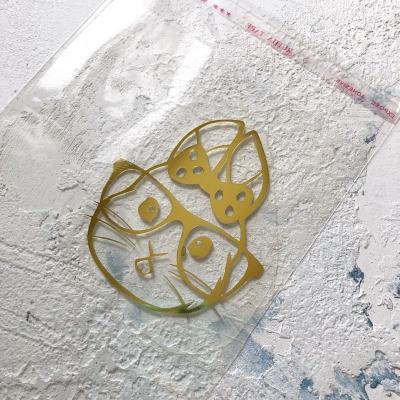 Надпись из золотого зеркального термотрансфера Зайка, 7х6 см