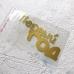 Надпись из золотого зеркального термотрансфера