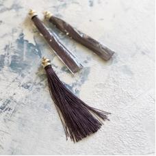 Кисточка 12 см, цвет темно-коричневый