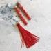 Кисточка 12 см, цвет красный