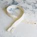 Молния витая разъемная, длина 70 см, цвет молочный