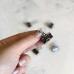 Зажимы 2 см, цвет черный