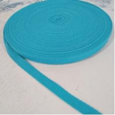 Киперная лента, ширина 1 см, отрез 1 м, ярко-голубая