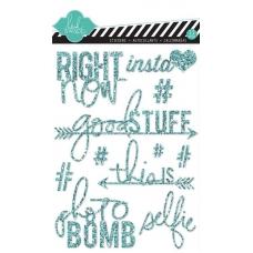 Наклейки Glitter Stickers Teal, Heidi Swapp