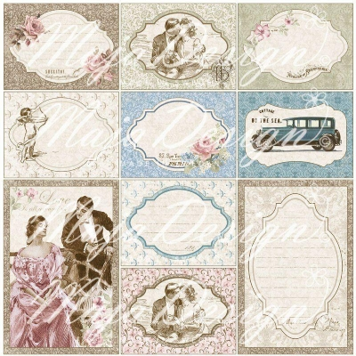 Лист 30х30 Vintage Romance - Love Notes,Maja Design