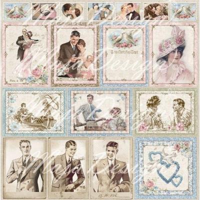 Лист 30х30 Vintage Romance - Ephemera cards,Maja Design