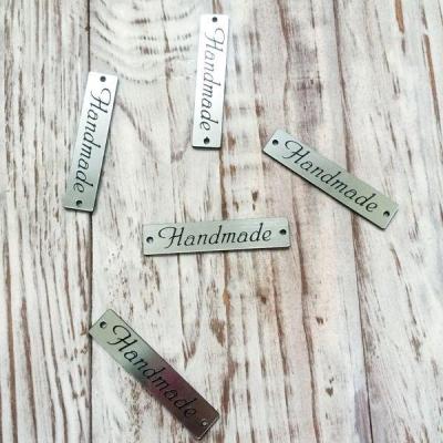 """Табличка """"Handmade"""" серебряная 3"""