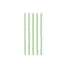 Полужемчужинки клеевые 4мм зеленые, 125шт