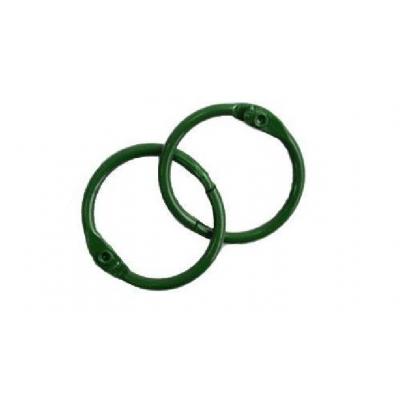 Кольца для альбомов, 2 шт зеленые 35 мм