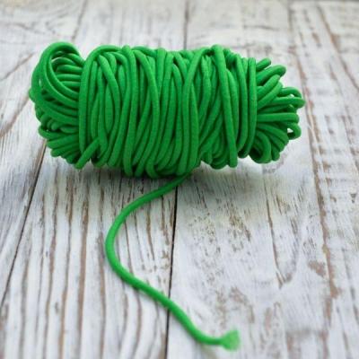 Резинка круглая 2,5 мм,отрез 1 м, зеленая