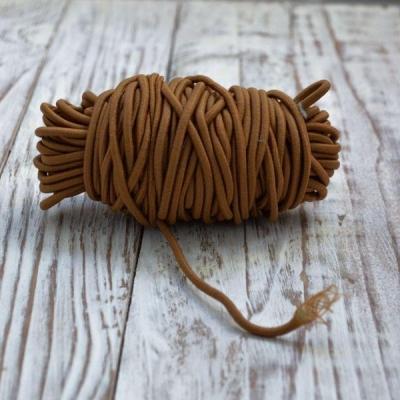 Резинка круглая 2,5 мм,отрез 1 м, светло-коричневая
