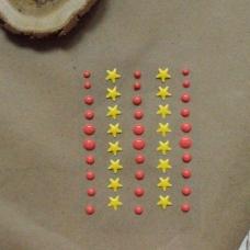 Эмалевые дотсы с желтыми звездочками